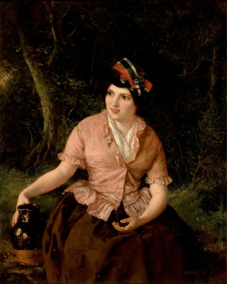 William Frayth Powell UK 1819-1909. Woman with a jug.