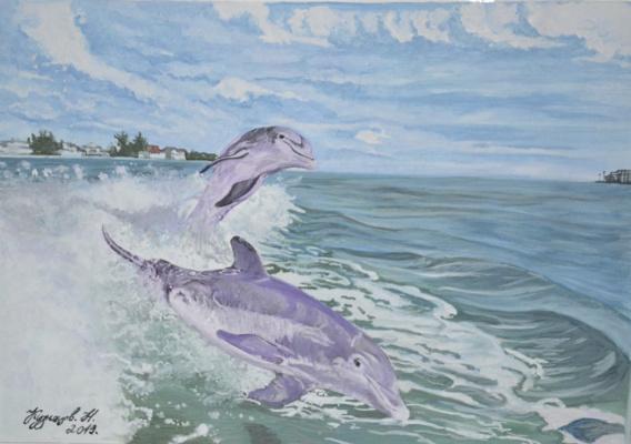 Kuznetsov.N. Dolphins.