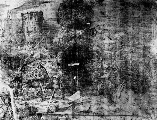 Доменико Кампаньола. Бегство в Египет