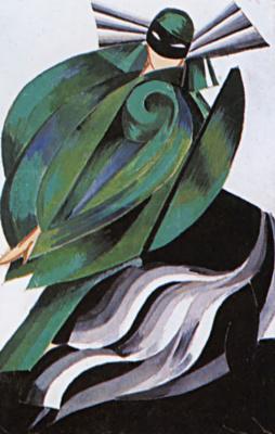 """Александра Александровна Экстер. Третья женская маска. Эскиз костюма к спектаклю """"Ромео и Джульетта"""" У. Шекспира. Московский Камерный театр"""