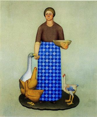 """Грант Вуд. Жена фермера и куры. Серия """"Продукция Айовы"""""""
