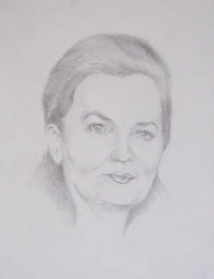 Ivan Alexandrovich Dolgorukov. A portrait made in pencil.