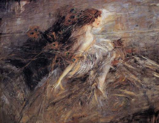 Giovanni Boldini. Portrait of the Marquise of Louise Kazati