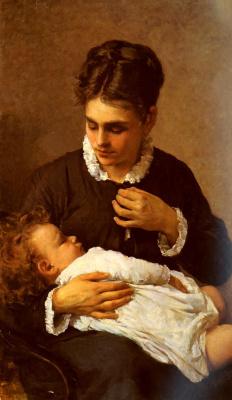 Silvestro Lega. Motherhood