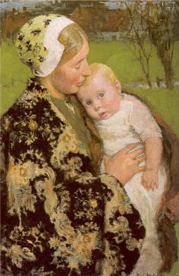 Юлий Гарибальди Мелчерс. Женщина с маленьким ребенком