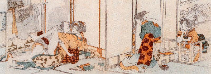 Katsushika Hokusai. Game lovers