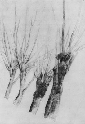 Эдгар Дега. Четыре ивы