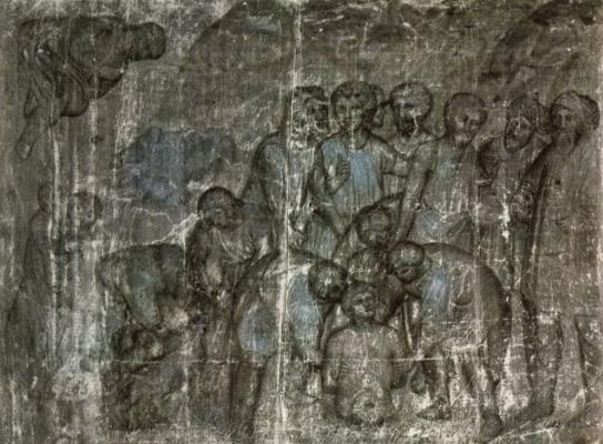 Братья опускают Иосифа в колодец