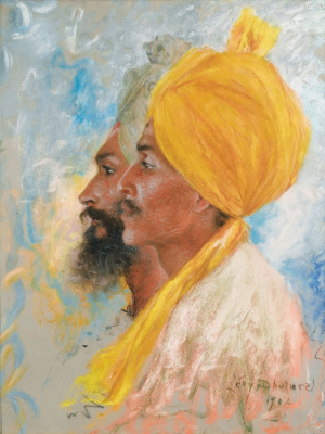 Lucien Levi-Durme. Two Sikh