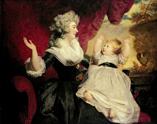 Joshua Reynolds. Georgiana, Duchess of Devonshire with Lady Dzhordiana Cavendish