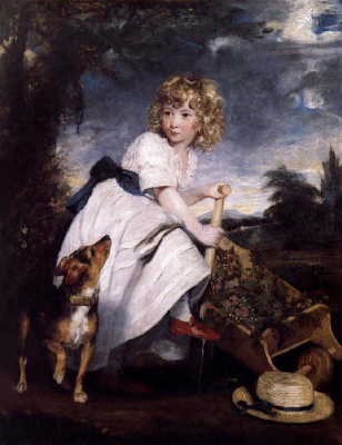 Joshua Reynolds. Portrait of Henry Hare as a young gardener