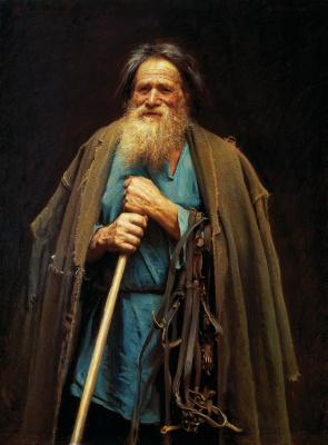 Иван Николаевич Крамской. Крестьянин с уздечкой (Портрет Мины Моисеева)