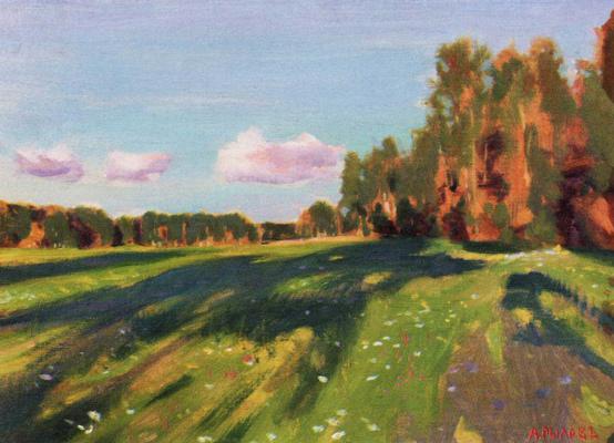Arkady Alexandrovich Rylov. Landscape. Summer etude (Quiet evening)