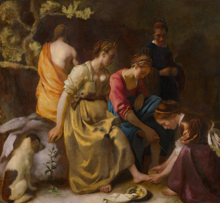 Jan Vermeer. Diana with nymphs