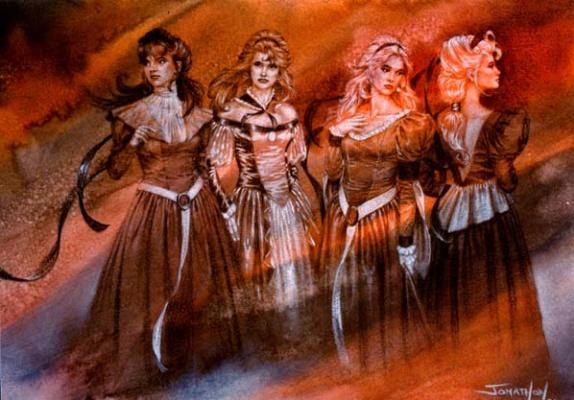 Четыре девушки