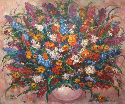 Oksana Viktorovna Zalevskaya. Large bouquet