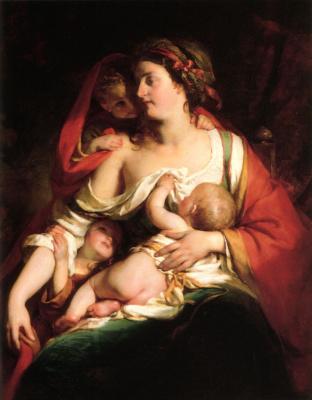 Рафаэль фон Амброс. Мать с младенцем