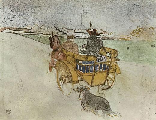 Henri de Toulouse-Lautrec. La Charrette Anglaise The English Dog Cart