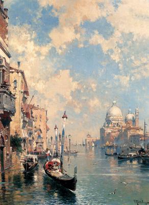 Franz Richard Unterberger. The Grand canal, Venice