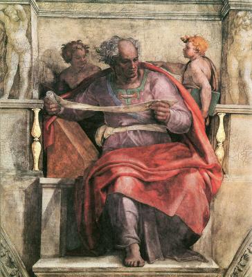 Michelangelo Buonarroti. The Prophet Joel