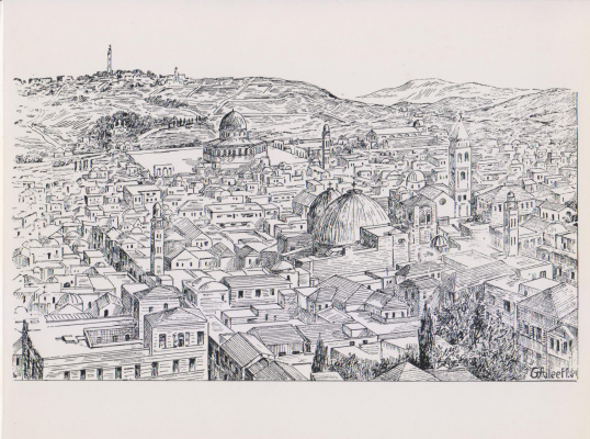 """Aleef. G. Aleev """"Jerusalem"""" GAleeff-54"""