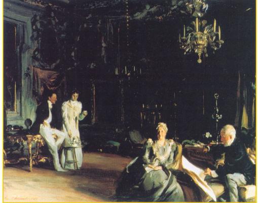 John Singer Sargent. Interior in Venice