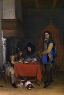 Gerard Terborch (ter Borch). The officer dictates the letter