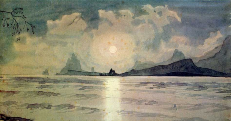 Maximilian Alexandrovich Voloshin. Leads through the waves and mist of the moon my lonely way