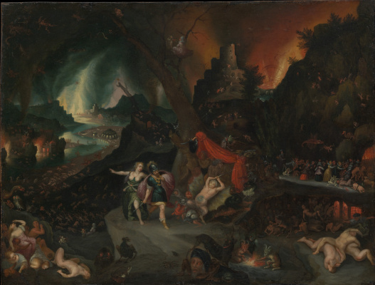 Jan Brueghel the Younger. Aeneas and Sibyl in the Underworld