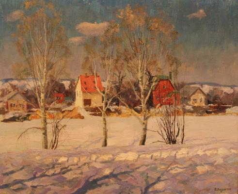 Victor Tikhonovich Karjakin. Winter in the left bank