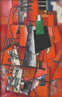 Kazimir Malevich. The lady and the piano
