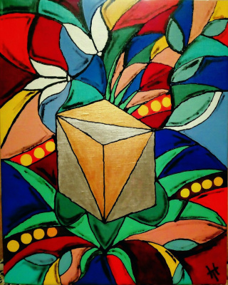 Natalia Valerievna Tolokonnikova. Cube-stained glass