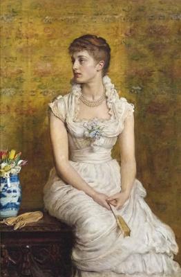 John Everett Millais. Portrait of lady Campbell, née Nina Lehmann
