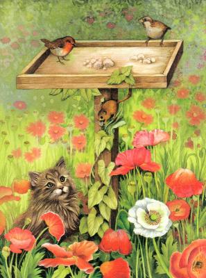 Валери Грили. Кот в цветах