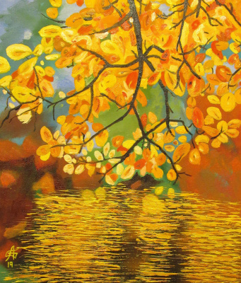 Artashes Badalyan. Autumn - map. - 35x30