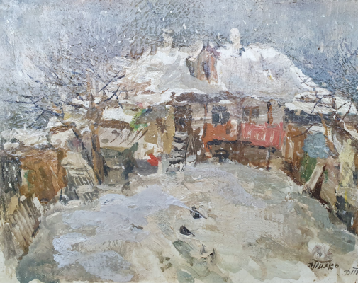 David Pilko. Winter, patio