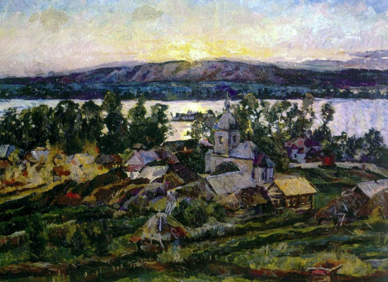 Aristarkh Vasilyevich Lentulov. Sunset on the Volga