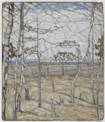 Абрам Аншелевич Маневич. Birch trees