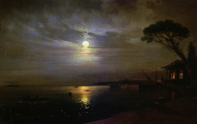 Ivan Aivazovsky. Moonlit night