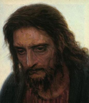 Ivan Nikolayevich Kramskoy. Christ in the desert. Fragment