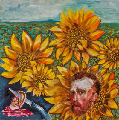 Alexander Semenovich Osin. Sunflowers Van Gogh