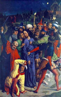 Дирк Баутс. Взятие Христа под стражу. ок.1460