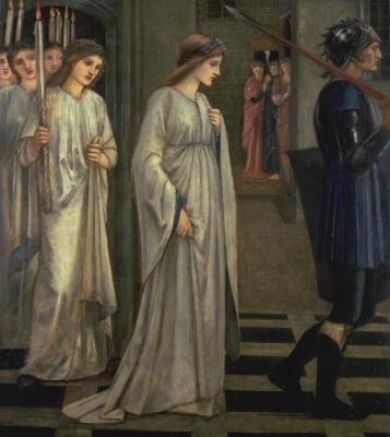 Edward Coley Burne-Jones. Princess Sabra lead to the dragon