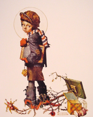 Norman Rockwell. A boy with a Board for writing