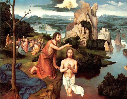 Иоахим Патинир. Крещение Спасителя