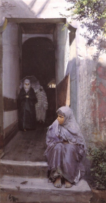 Anders Zorn. The girl on the stairs