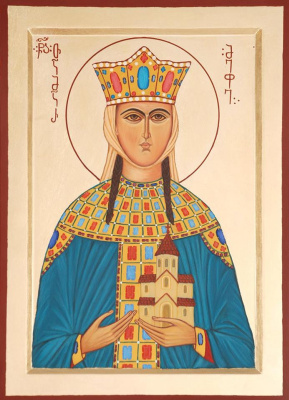 Badri bukia. Icon of Queen Tamara of Georgia