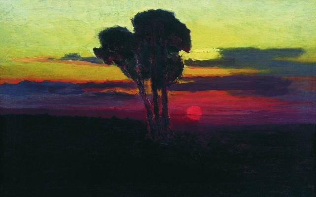 Архип Иванович Куинджи. Закат с деревьями