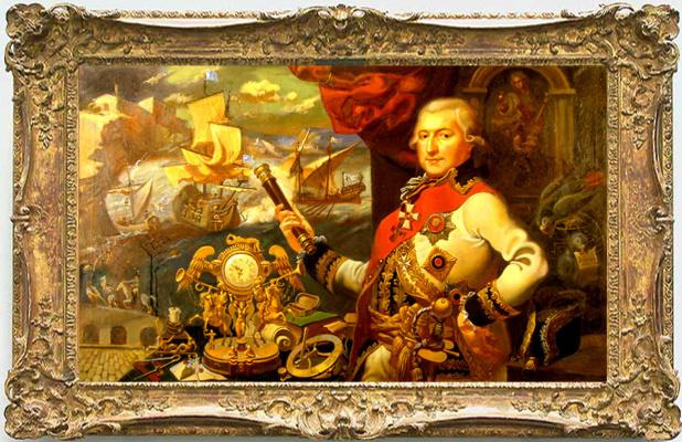 Daniil Litvinov. Portrait of Admiral Deribas