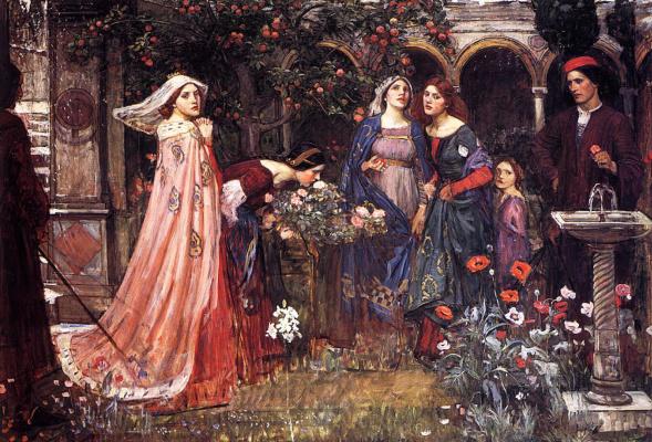 John William Waterhouse. Enchanted garden